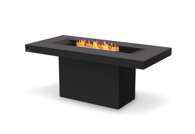 Gin 90 (Bar) Fire Pit - Ethanol - Black / Graphite by EcoSmart Fire