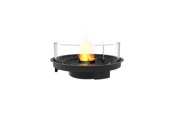 Round 20 Fireplace Insert - Ethanol - Black / Black by EcoSmart Fire