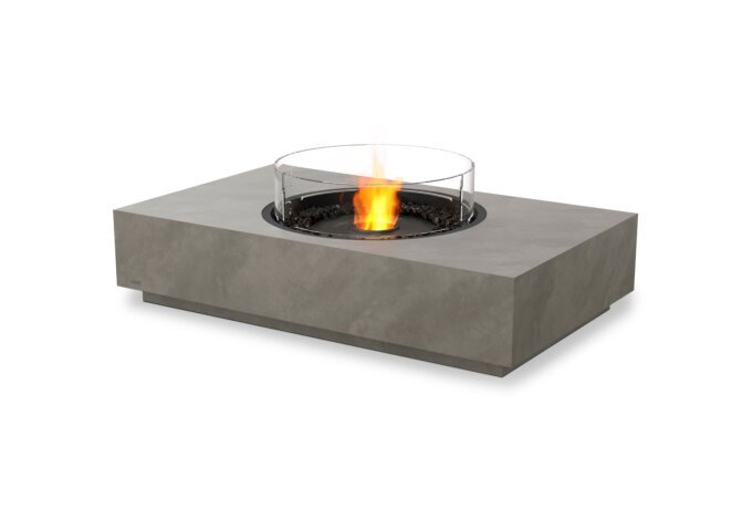 Martini 50 Fire Pit - Ethanol - Black / Natural / Optional Fire Screen by EcoSmart Fire