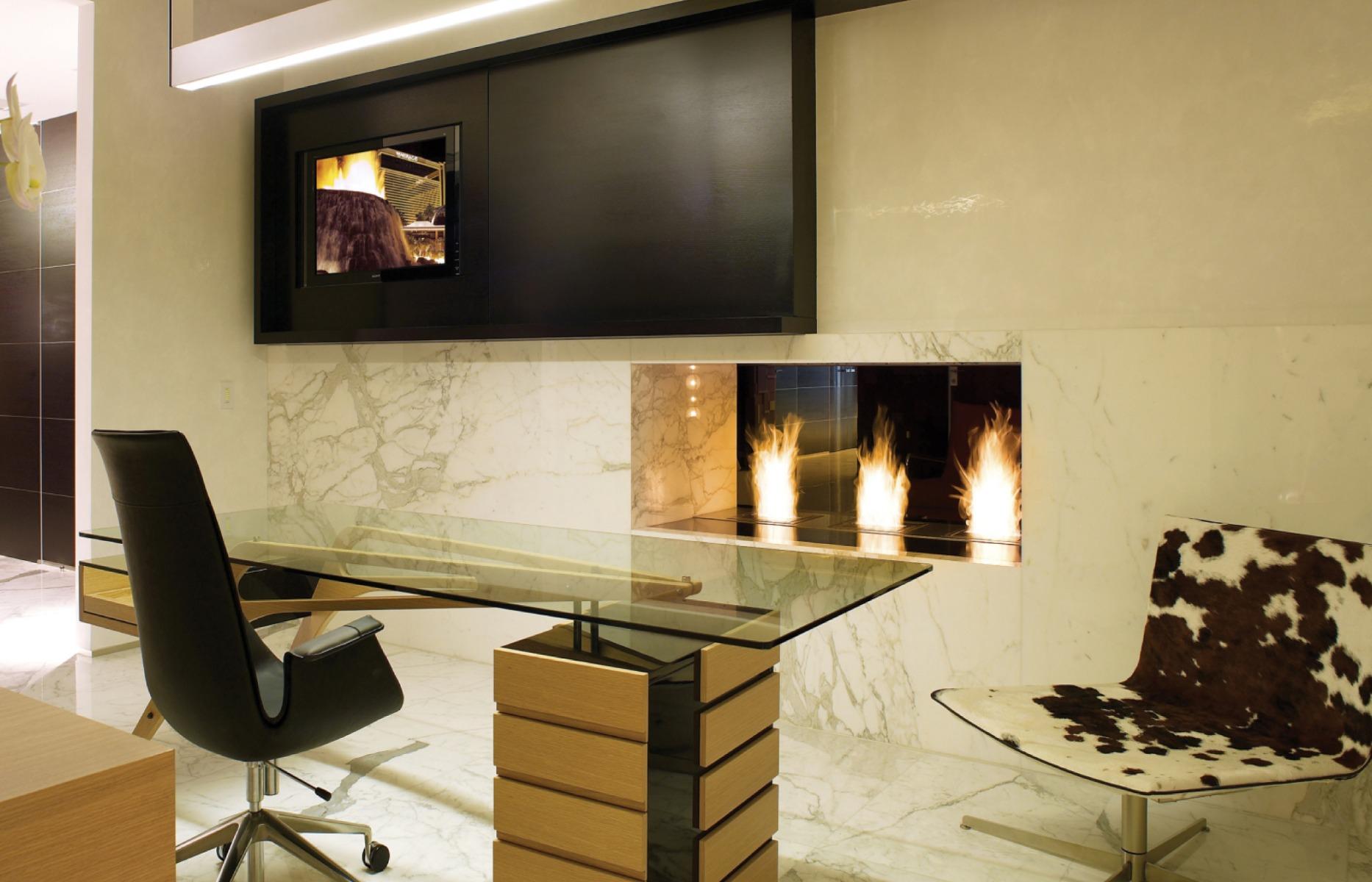 BK5 ethanol burner office installation