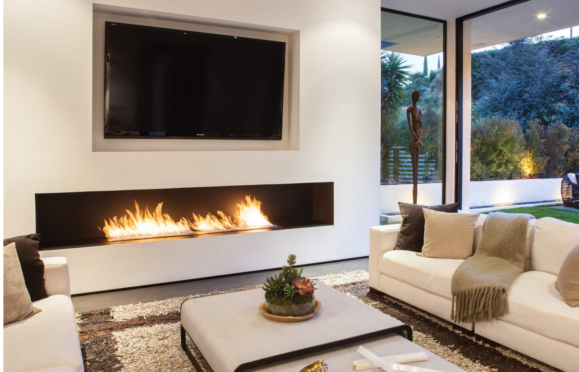 EcoSmart Fire XL900 ethanol burner custom fireplace insert