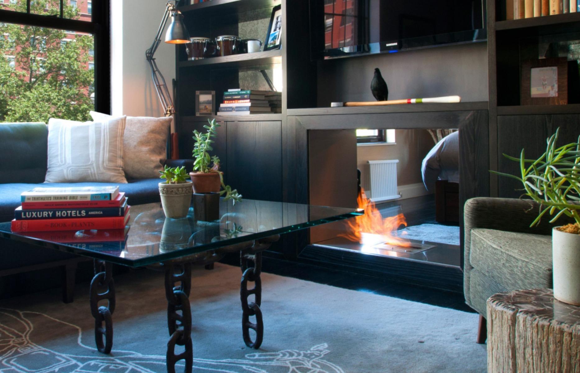 EcoSmart Fire Double sided fireplace